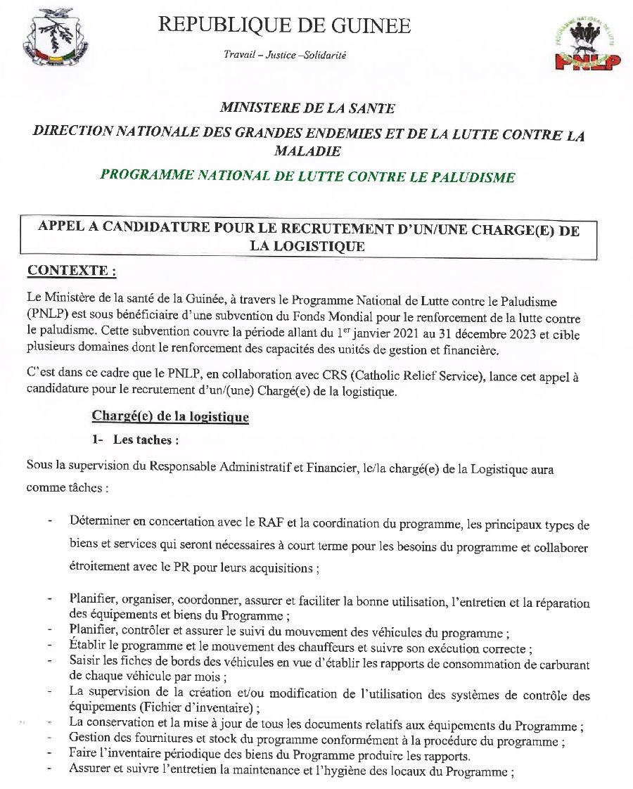 Offres d'emploi en guinée