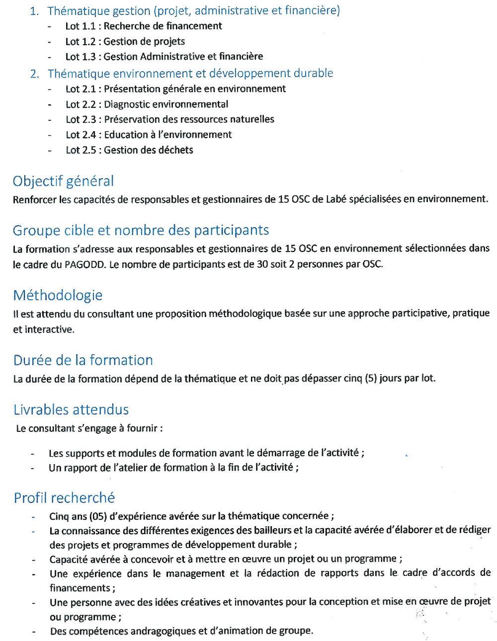 Appel d'Offres en Guinée conakry p2