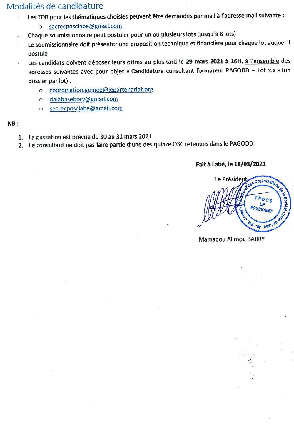 Appel d'Offres en Guinée conakry p3