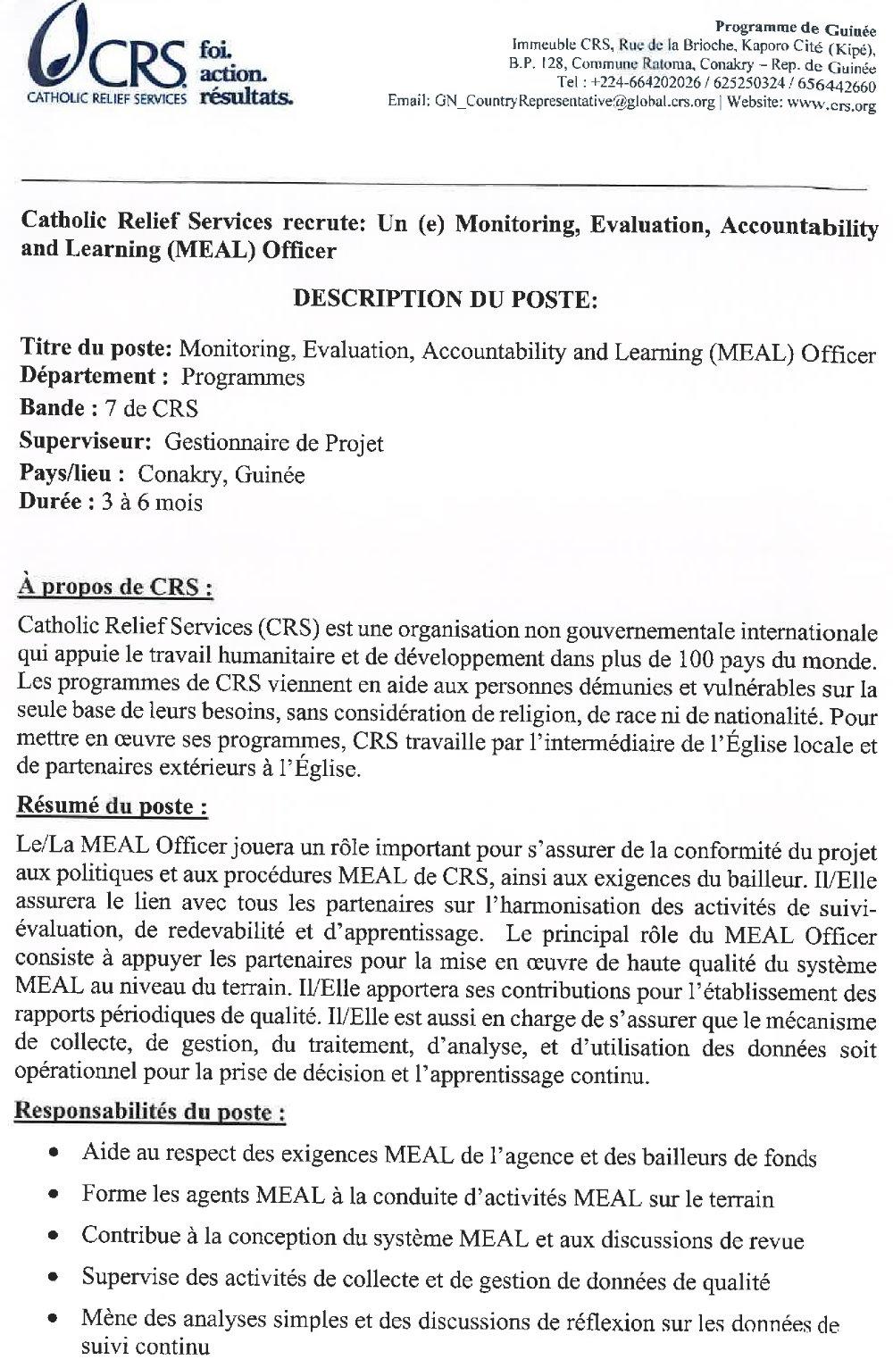 Offres d'emplois en Guinée conakry