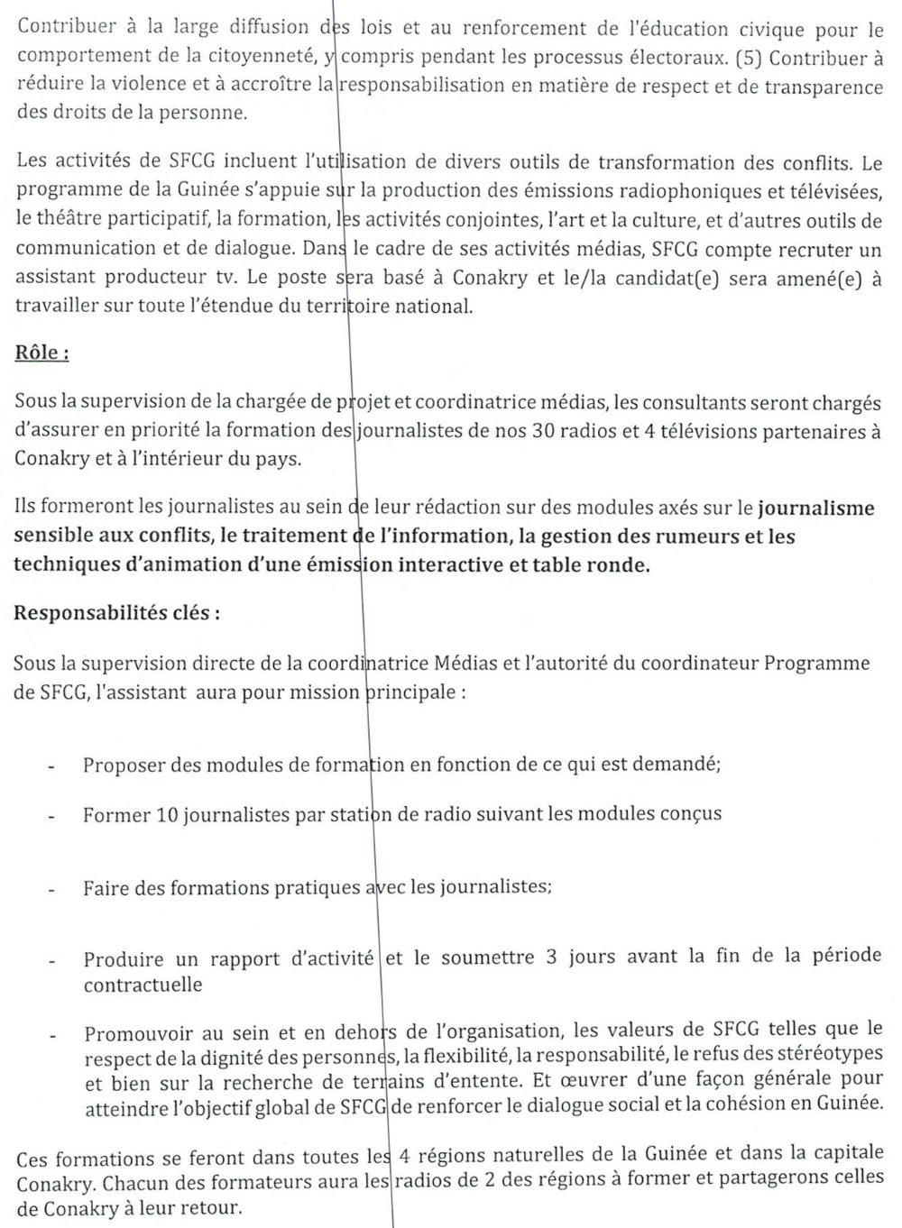 Offres d'emplois en guinée 2021 p2